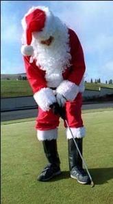 santa, golf, santa golf, christmas golf, christmas, christmas golf